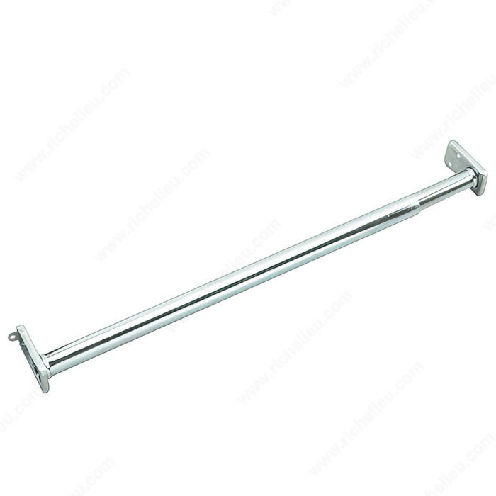 Adjustable Hanging Rod With Fixed Ends Zinc Richelieu Hardware