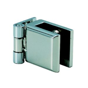 Stainless Steel Hinge for Glass or Acrylic Door, Recessed Within Furniture/Cabinet