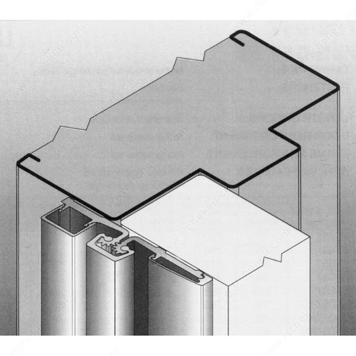 Continuous Geared Full Surface Aluminum Hinge For Narrow