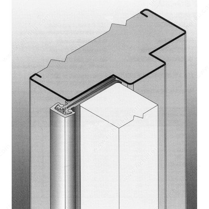 Continuous Geared Concealed Leaf Aluminum Hinge With Door