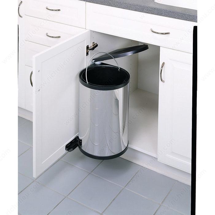 poubelle pivotante 1 x 15 litres quincaillerie richelieu