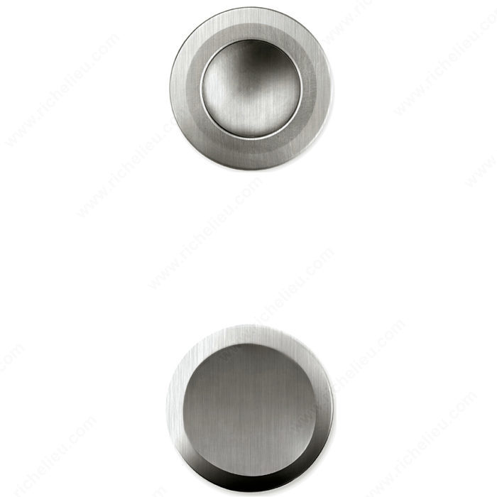 Recessed and flush cup pulls for sliding doors recessed pull handle