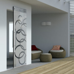 MAGIC VETRO. Wall Mount Sliding System with Concealed Hardware for Glass Doors
