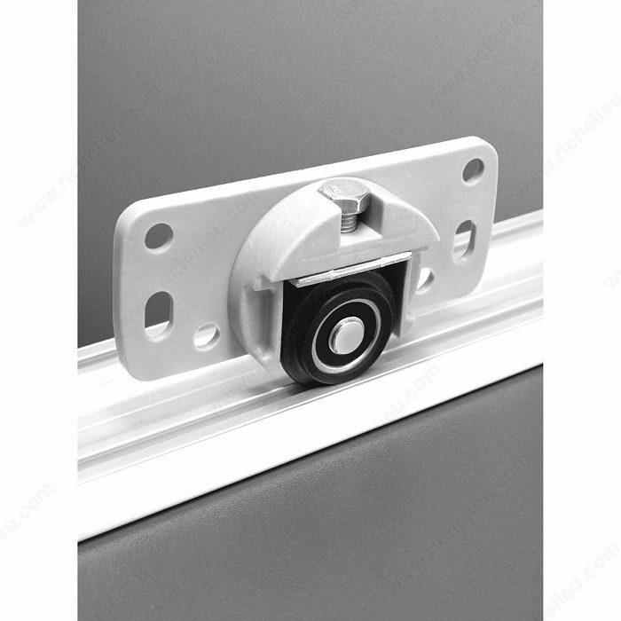 Gu/ía de rodillo de puerta de granero /Estructura de pared corredera rueda de rodillo ajustable de soporte de canal de hardware de puerta inferior deslizante de/