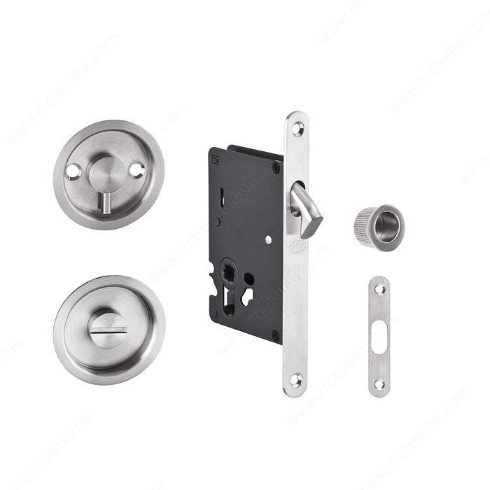 Juego de cerradura de embutir para puerta corrediza for Cerradura para puerta de bano