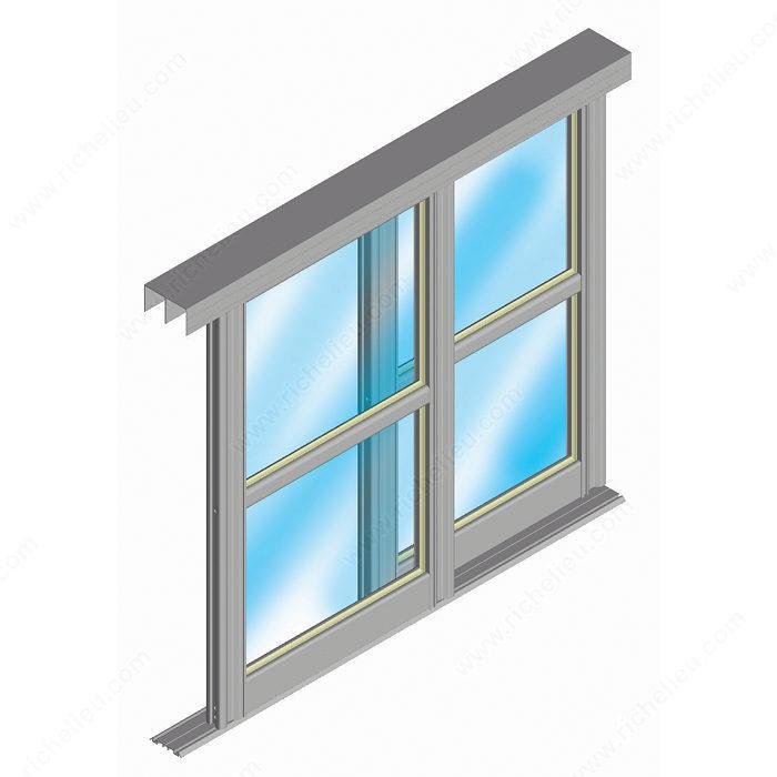 Quincaillerie pour porte coulissante cadre en aluminium - Porte coulissante aluminium ...