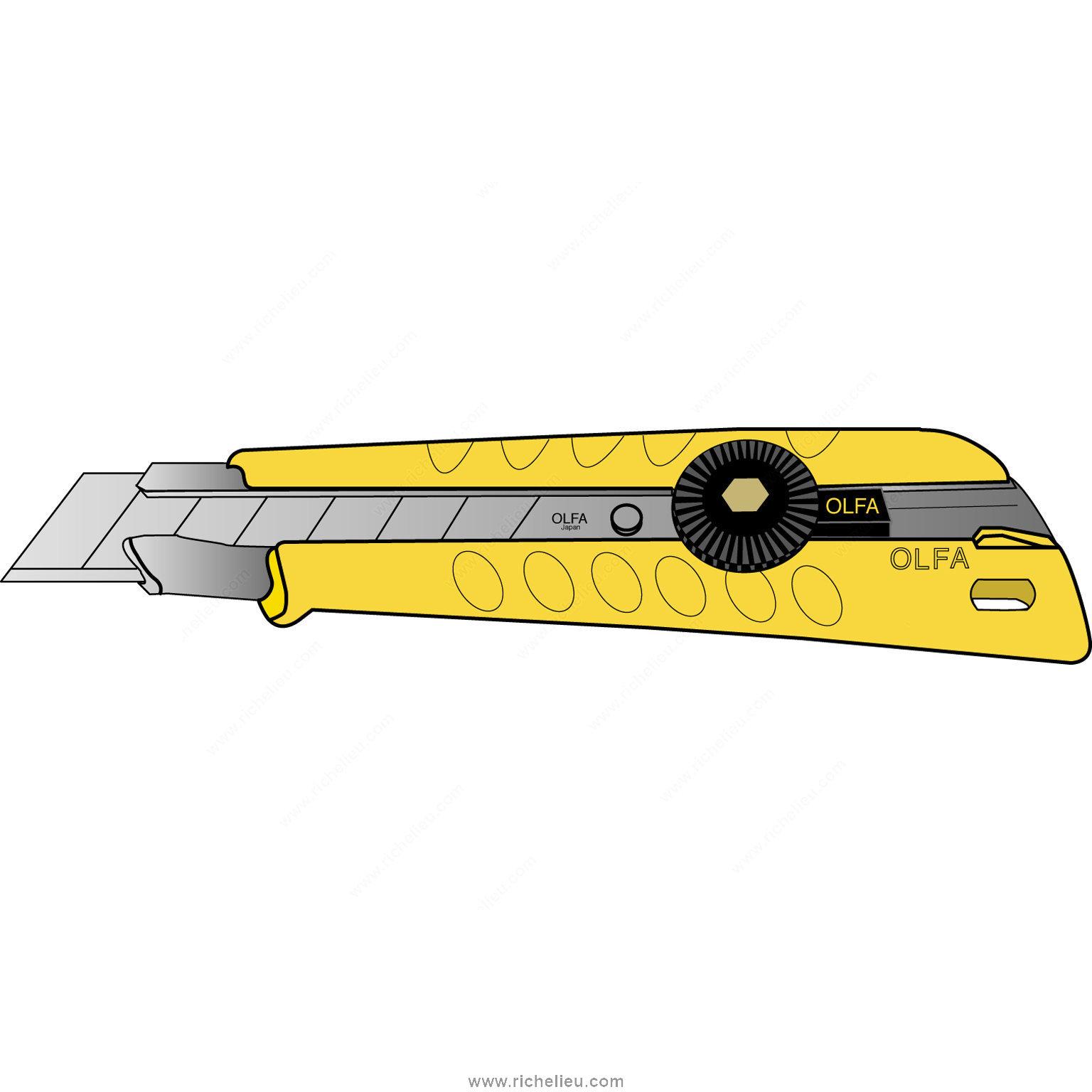 Heavy Duty Olfa Cutters And Blades 18 Mm Richelieu