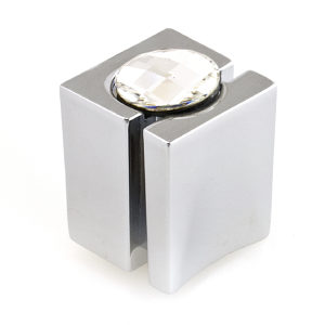 Contemporary Knob with Swarovski Crystal - 9100