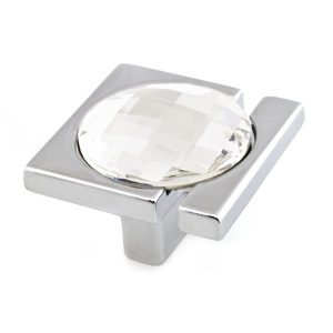 Contemporary Knob with Swarovski Crystal - 91001