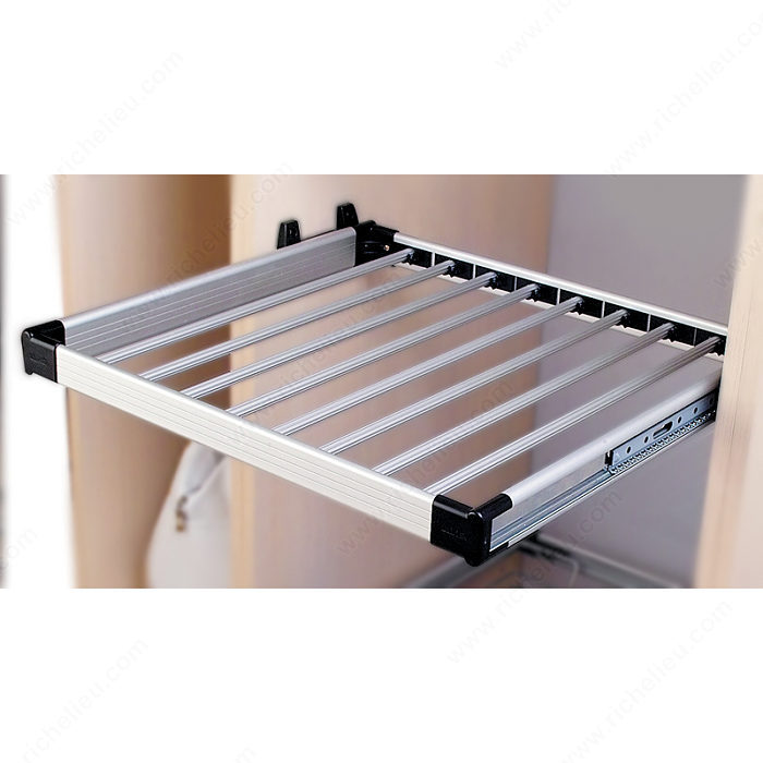 Pull-Out Aluminum Clothes Rack-2