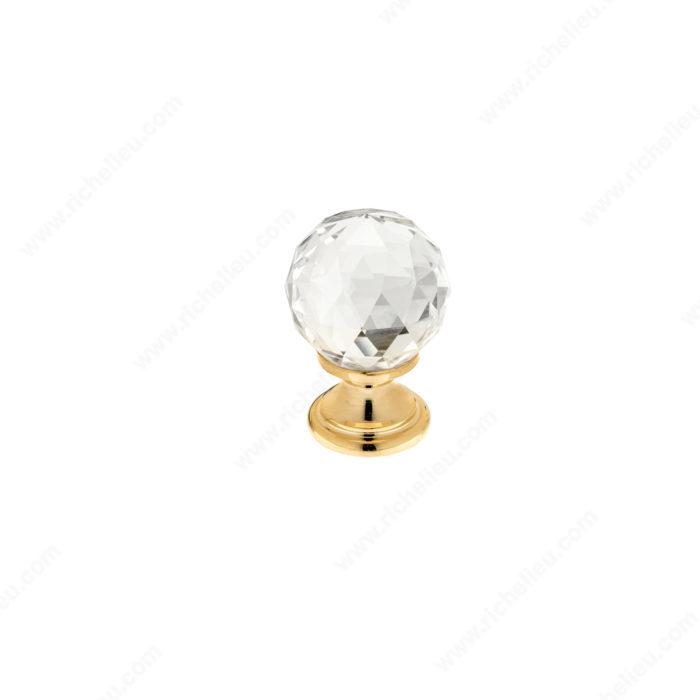 traditional brass and swarovski crystal knob richelieu hardware