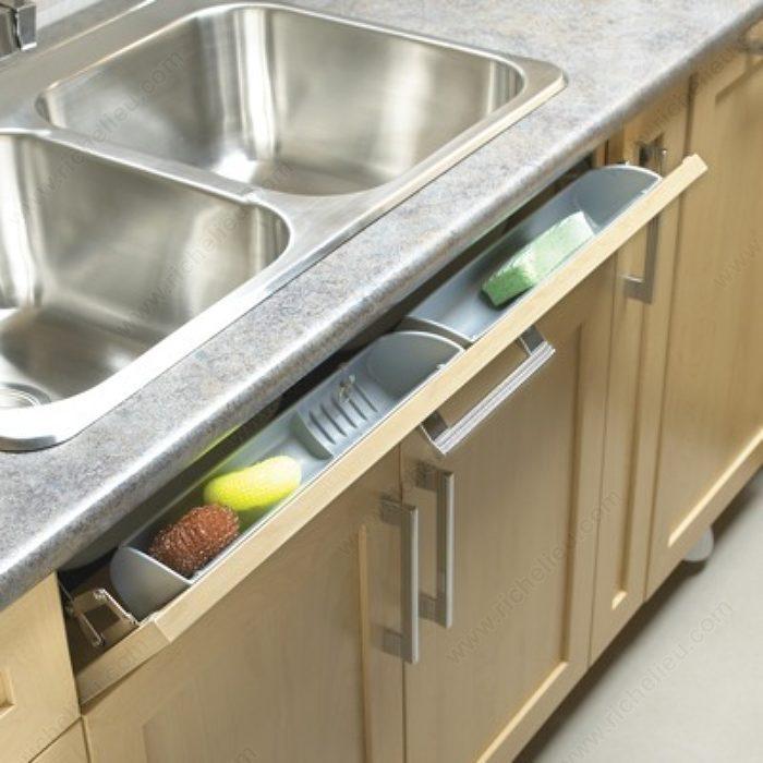 Bulk molded trays richelieu hardware for Under sink cabinet tray