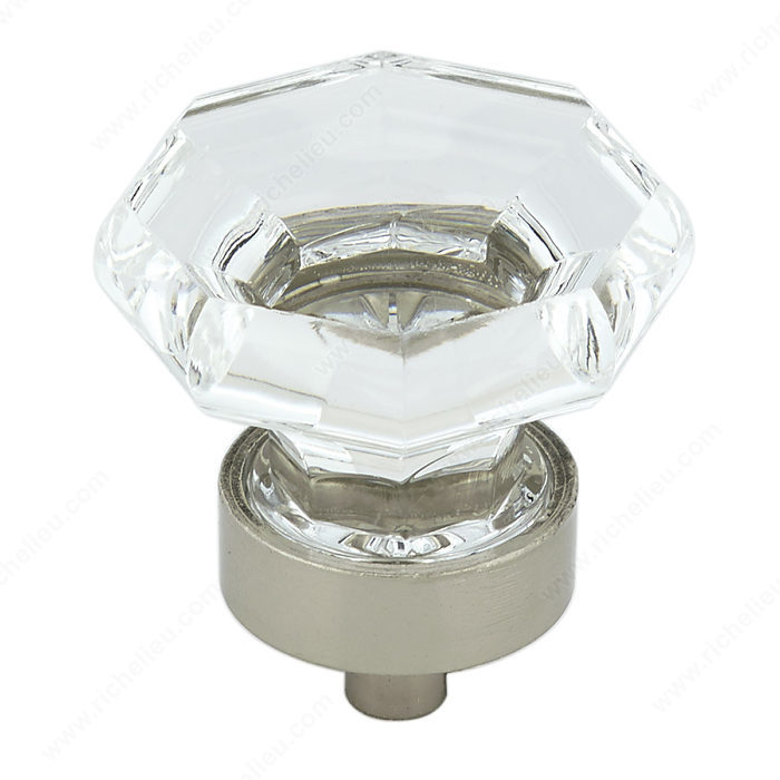 Eclectic Acrylic And Metal Knob 1008 Richelieu Hardware