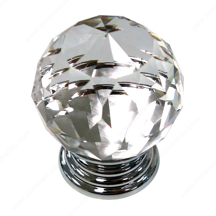 Eclectic Acrylic And Brass Knob 10088 Richelieu Hardware