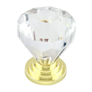 Eclectic Acrylic and Metal Knob - 10089