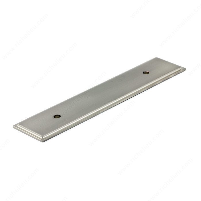 Kitchen Cabinet Pulls With Backplates: Transitional Metal Backplate For Pull