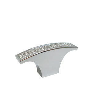 Contemporary Metal and Crystal Knob - 1234