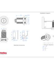 serrure came pour paisseur de panneau jusqu 39 23 mm bp140001140 quincaillerie richelieu. Black Bedroom Furniture Sets. Home Design Ideas
