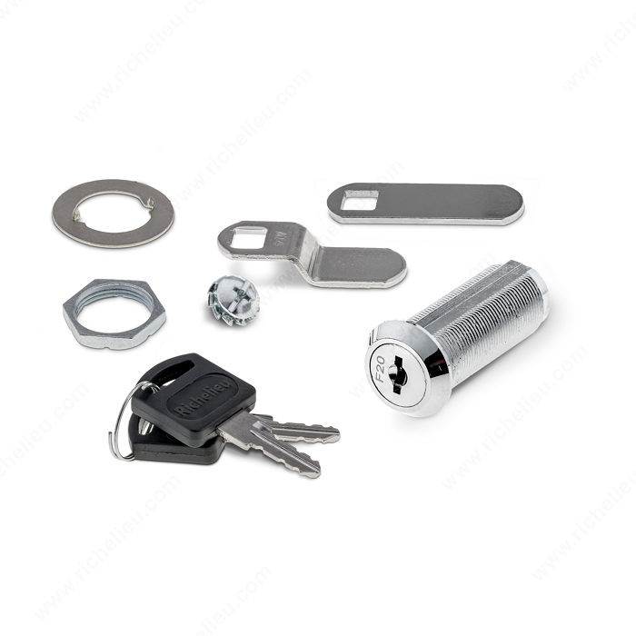 cam lock for panel thickness up to 38 mm 1 1 2 39 39 richelieu hardware. Black Bedroom Furniture Sets. Home Design Ideas