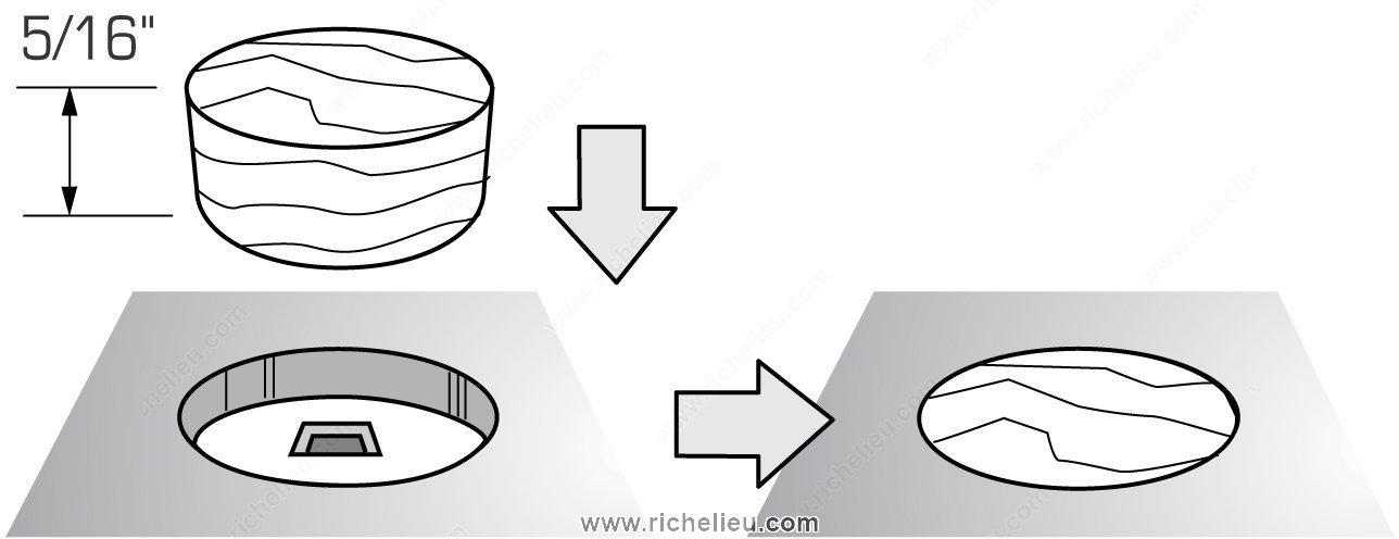 cache vis plat en bois quincaillerie richelieu. Black Bedroom Furniture Sets. Home Design Ideas