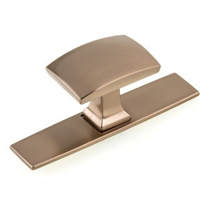 Transitional Metal Wardrobe Knob and Backplate - 2245