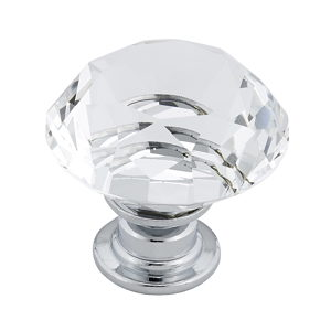 Contemporary Crystal Knob - 2828