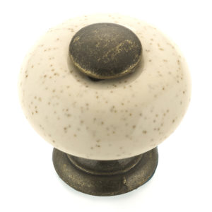Eclectic Ceramic and Metal Knob - 3380