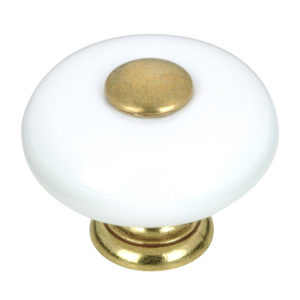 Eclectic Ceramic and Metal Knob - 3381