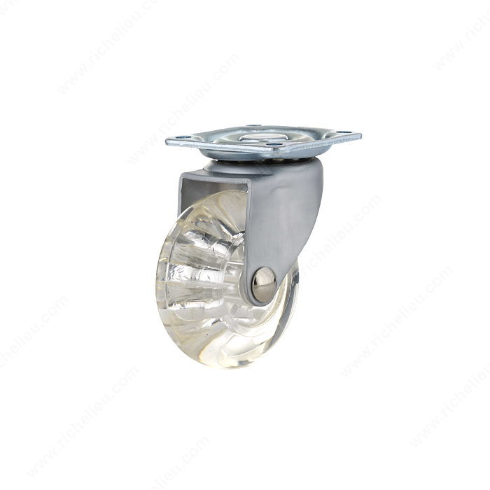 Roulette transparente contemporaine pour meubles for Mini roulette pour meuble