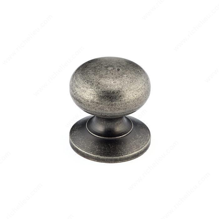 Richelieu Hardware BP39313BORB Classic Brass Knob 1 1//4,Brushed Oil-Rubbed Bronze