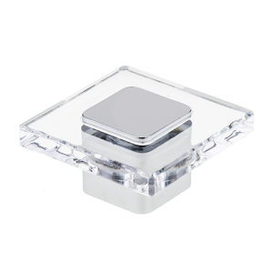 Contemporary Acrylic and Metal Knob - 3993