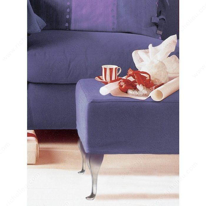 patte de meuble courb e en aluminium 5600 quincaillerie richelieu. Black Bedroom Furniture Sets. Home Design Ideas