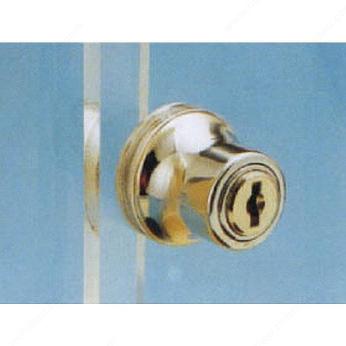 Cabinet sliding glass door push lock richelieu hardware for Sliding glass doors locks