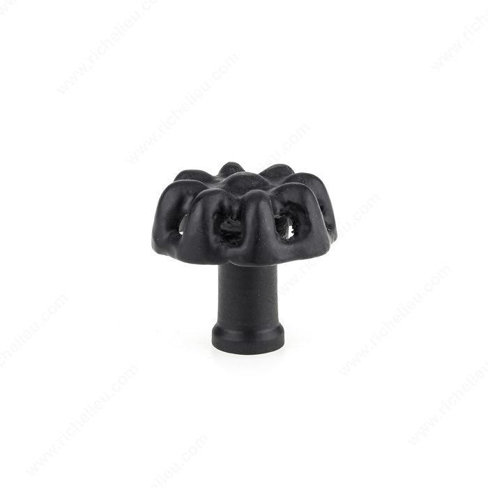 BP77546490 Richelieu Hardware Eclectic Wrought Iron Knob Black  Finish 775