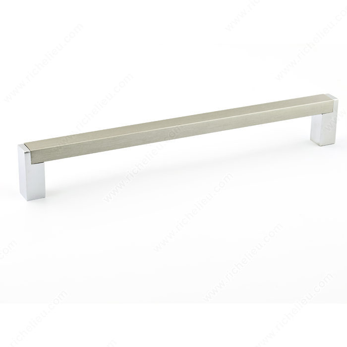 Contemporary metal and aluminum pull 801 richelieu for Contemporary cabinet hardware pulls