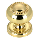 Classic Brass Plate and Knob