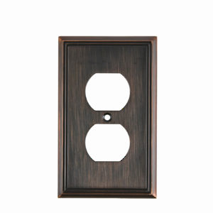 Switch Plate Double Receptacle - Contemporary Style