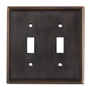 Switch Plate 2 Toggle Entries - Contemporary Style