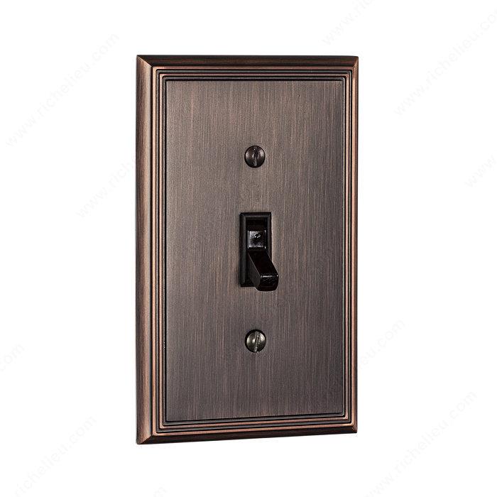 plaque d 39 interrupteur 1 prise bascule style. Black Bedroom Furniture Sets. Home Design Ideas