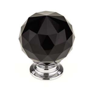 Contemporary Crystal Knob - 8737