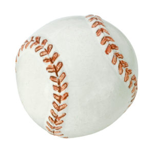 Eclectic Resin Baseball Knob - 9349