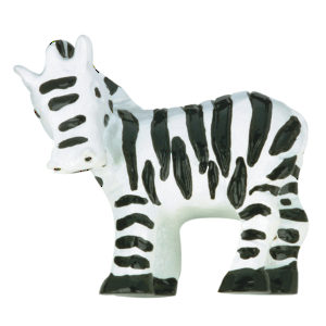 Eclectic Polyester Zebra Knob - 9356