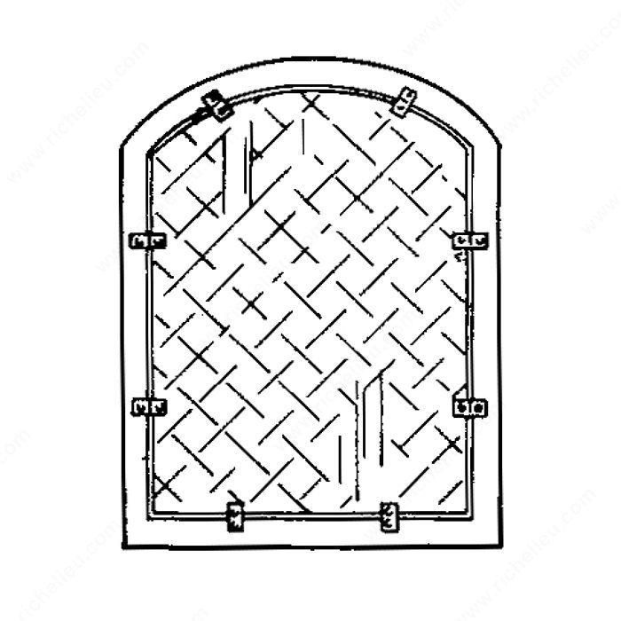 Offset Mirror Retainer Clip Richelieu Hardware