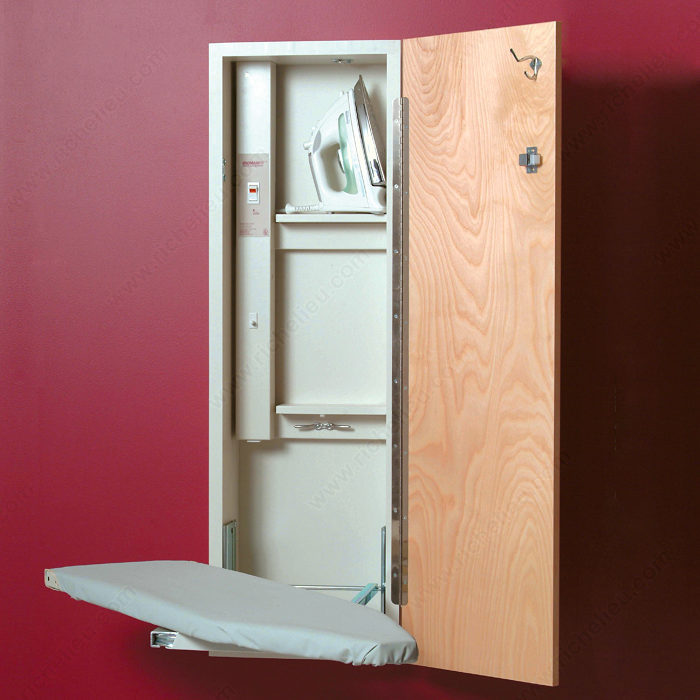built in electric swiveling ironing board richelieu hardware. Black Bedroom Furniture Sets. Home Design Ideas