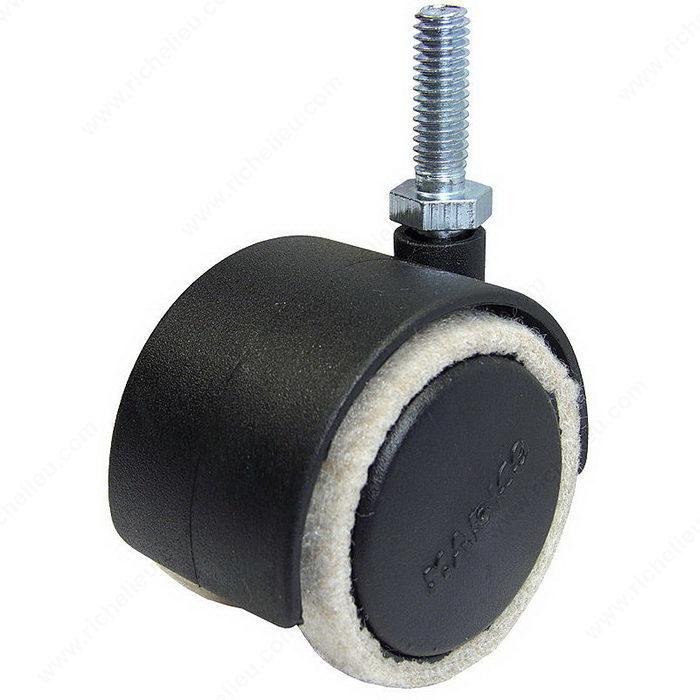 Roulette pour meuble fusion feltac md avec feutre - Roulettes industrielles pour meubles ...