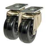 Heavy-Duty Casters - Soft Rubber