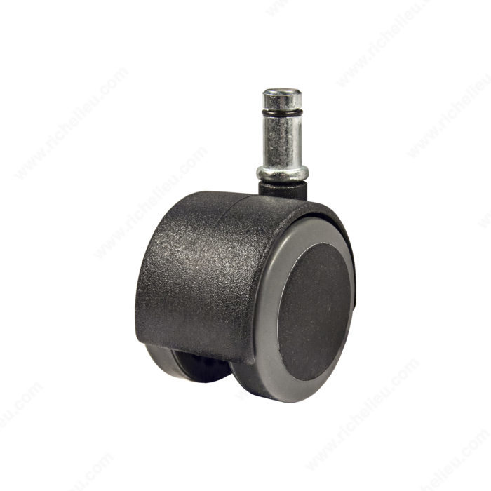 soft tread dual wheel furniture caster with friction