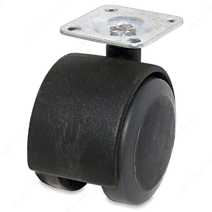 Roulettes doubles pour meuble bande de roulement douce Roulette pour deplacer les meubles