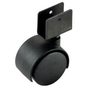 Roulette double pour meuble avec fixation en u for Roulette ancienne pour meuble