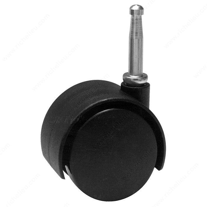 roulette double pour meuble avec tige bois quincaillerie richelieu. Black Bedroom Furniture Sets. Home Design Ideas